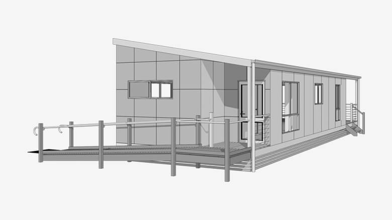 3D render of Disabled access Cabin