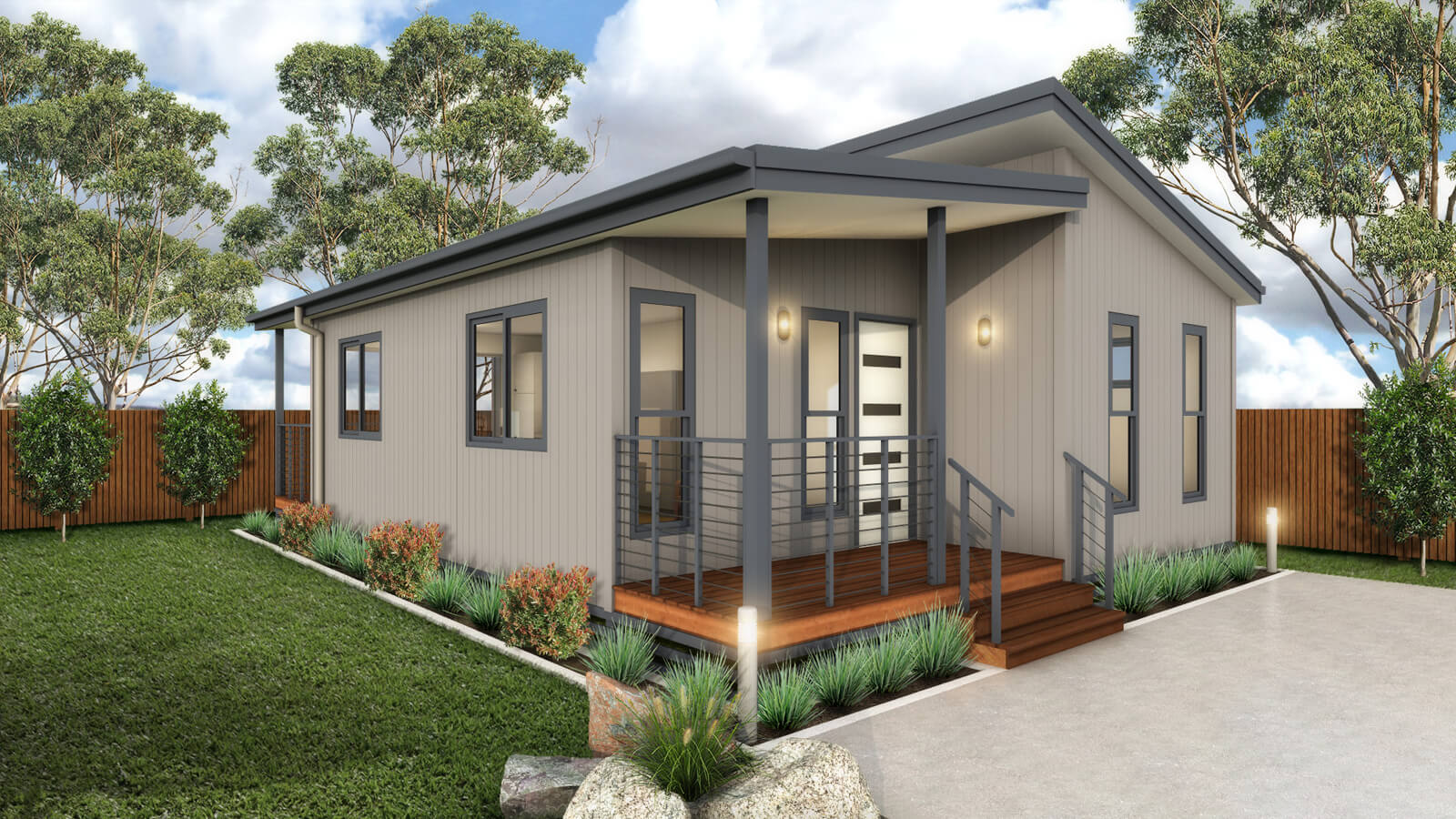 The bribie granny flat park cabin residential home for 2 bedroom granny flat designs