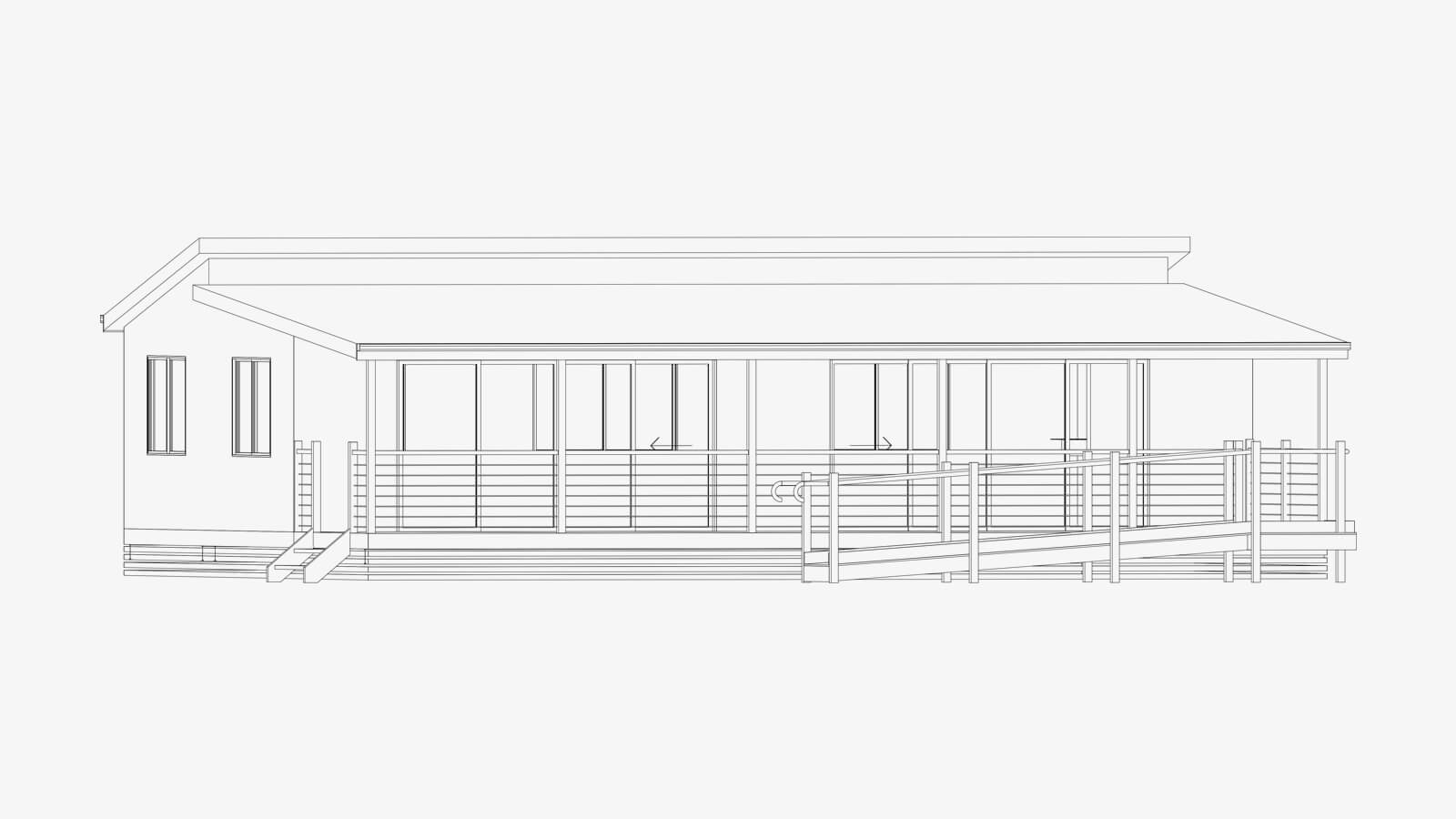 Rendered image of a Park Cabin and Relocatable Home
