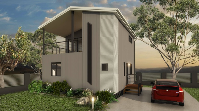 Image of a 3D rendered modular building