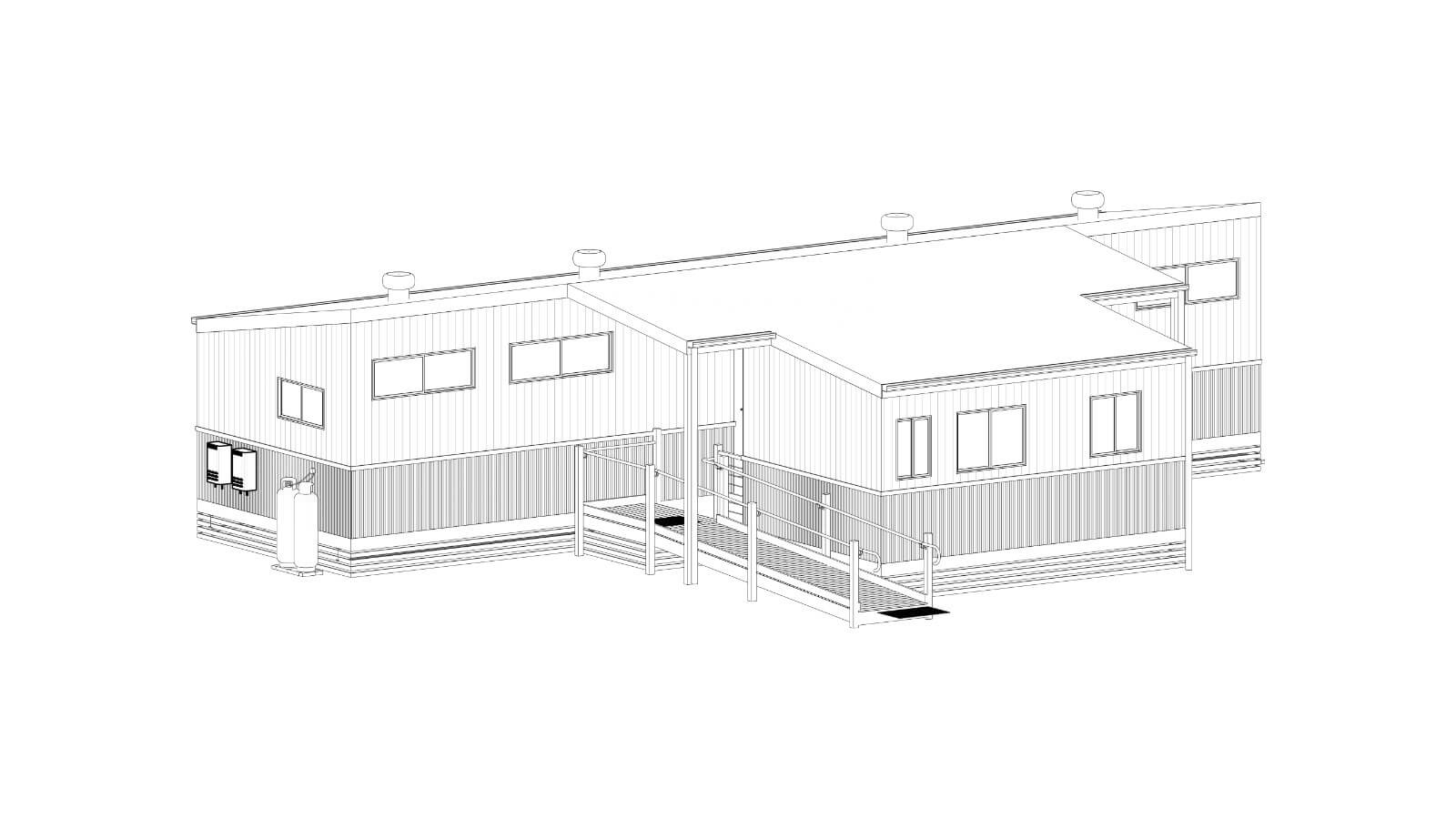 Rendered image of an Accessible Disabled Cabin