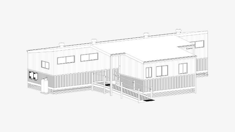 Photo of a Portable Modular Amenities Building