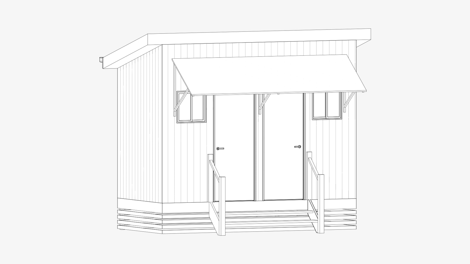 Rendered image of a Bunk House